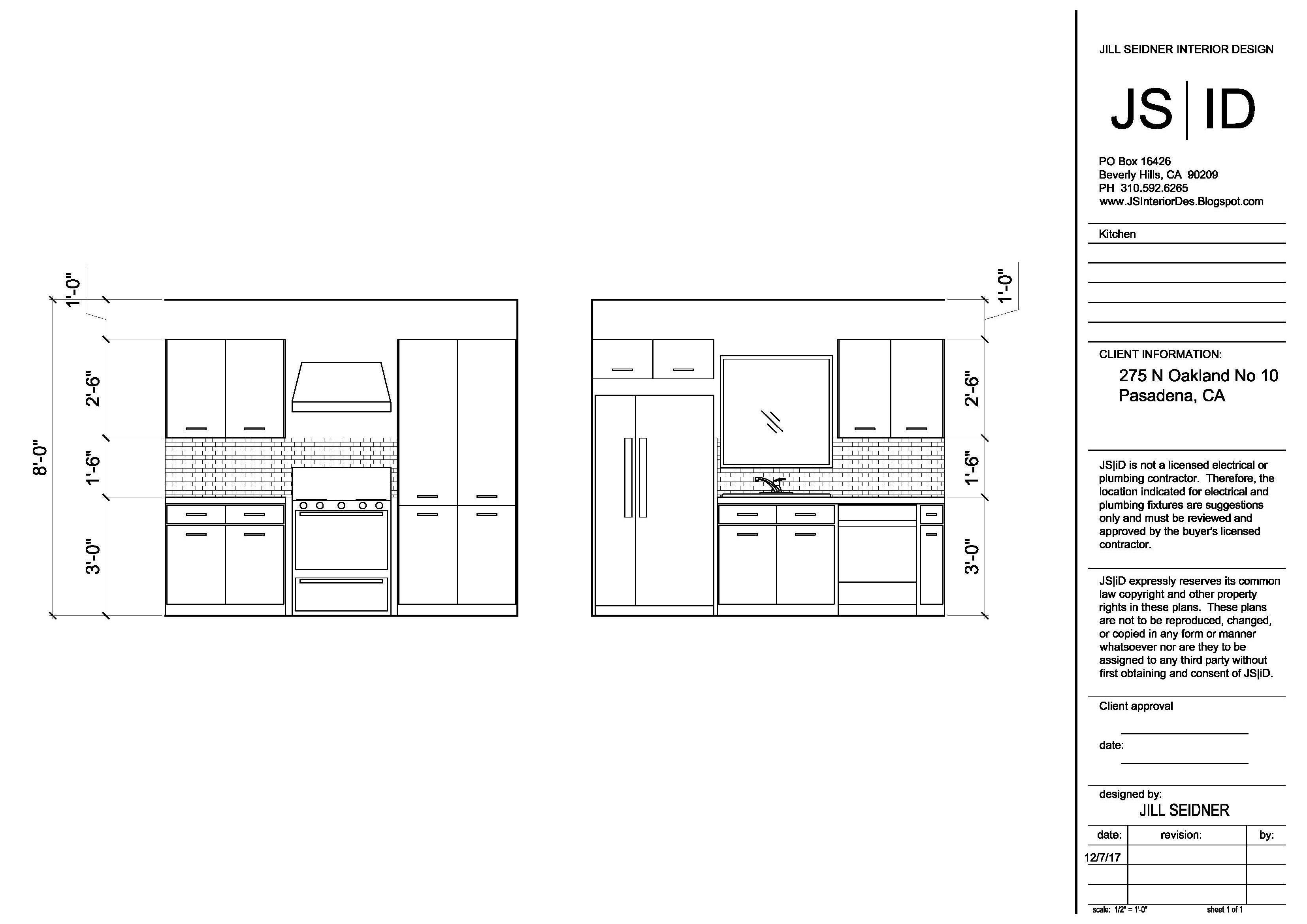 Pasadena, CA Tenant Improvement Project Kitchen Elevation
