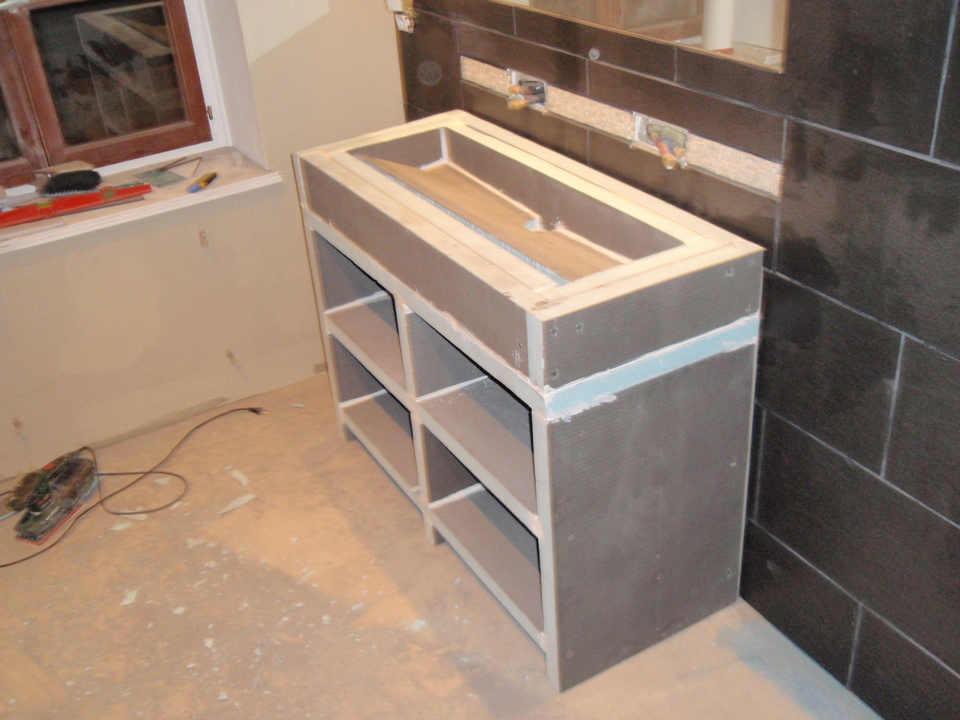 Fabrication de la vasque | Salle de bain | Diy meuble salle de bain ...