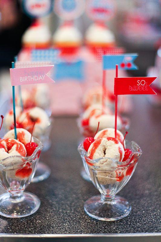 ice cream party/ bar