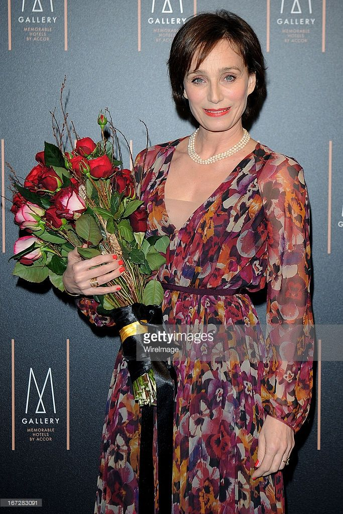 Kristin Scott Thomas attends MGallery & Grand Visconti Palace 'Memorable Night' Cocktail Party at Grand Visconti Palace on April 23, 2013 in Milan, Italy.