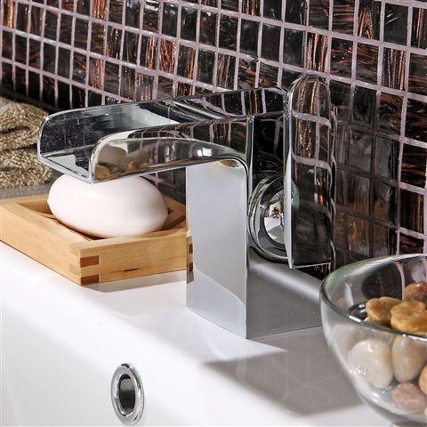 Mychele Waterfall Basin Mixer - £129 | Bathroom Heaven http://www.bathroomheaven.com/basin-mixer-taps/mychele-waterfall-single-lever-basin-mixer-excludes-waste-10571.aspx