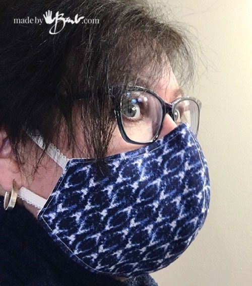 Photo of DIY Fitted Face Mask – Made By Barb – free pattern designed to fit well – Masque