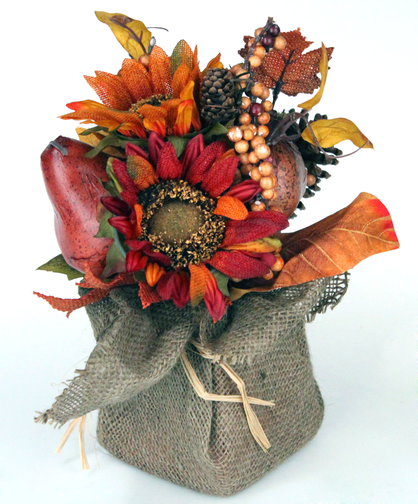 Silk ArrangementThis warm, inviting fall silk arrangement is the perfect keepsake or annual addition to your autumn decor!