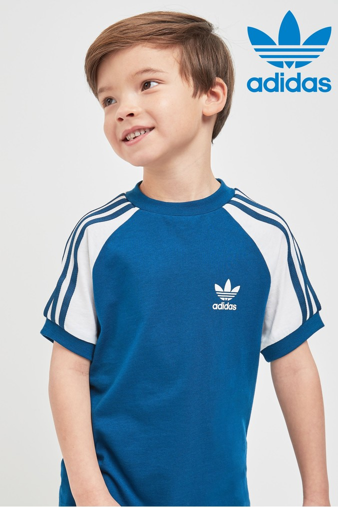 Boys adidas Originals Little Kids California Tee Blue