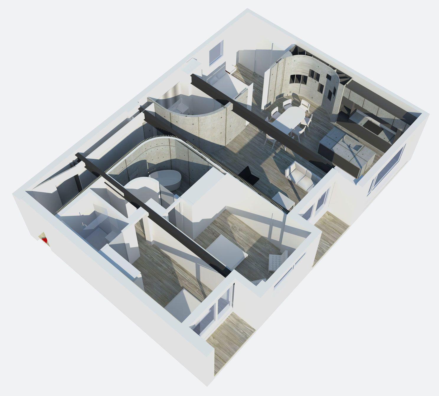 Redchurch Loft by Studio Verve Architects (15)  Loft (isomatic perspective)