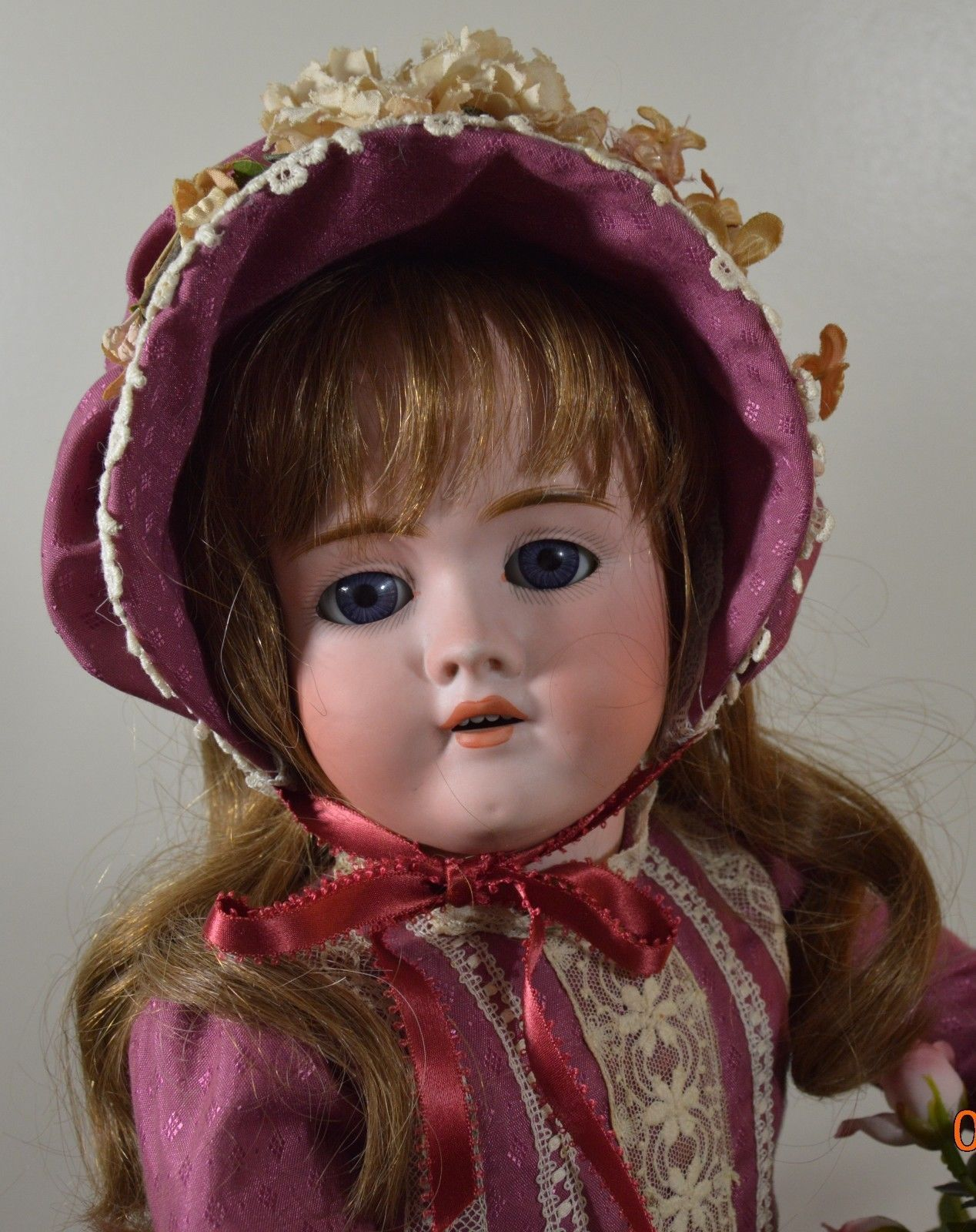 OUTSTANDING Antique German Walkure Bisque Head Doll 24"