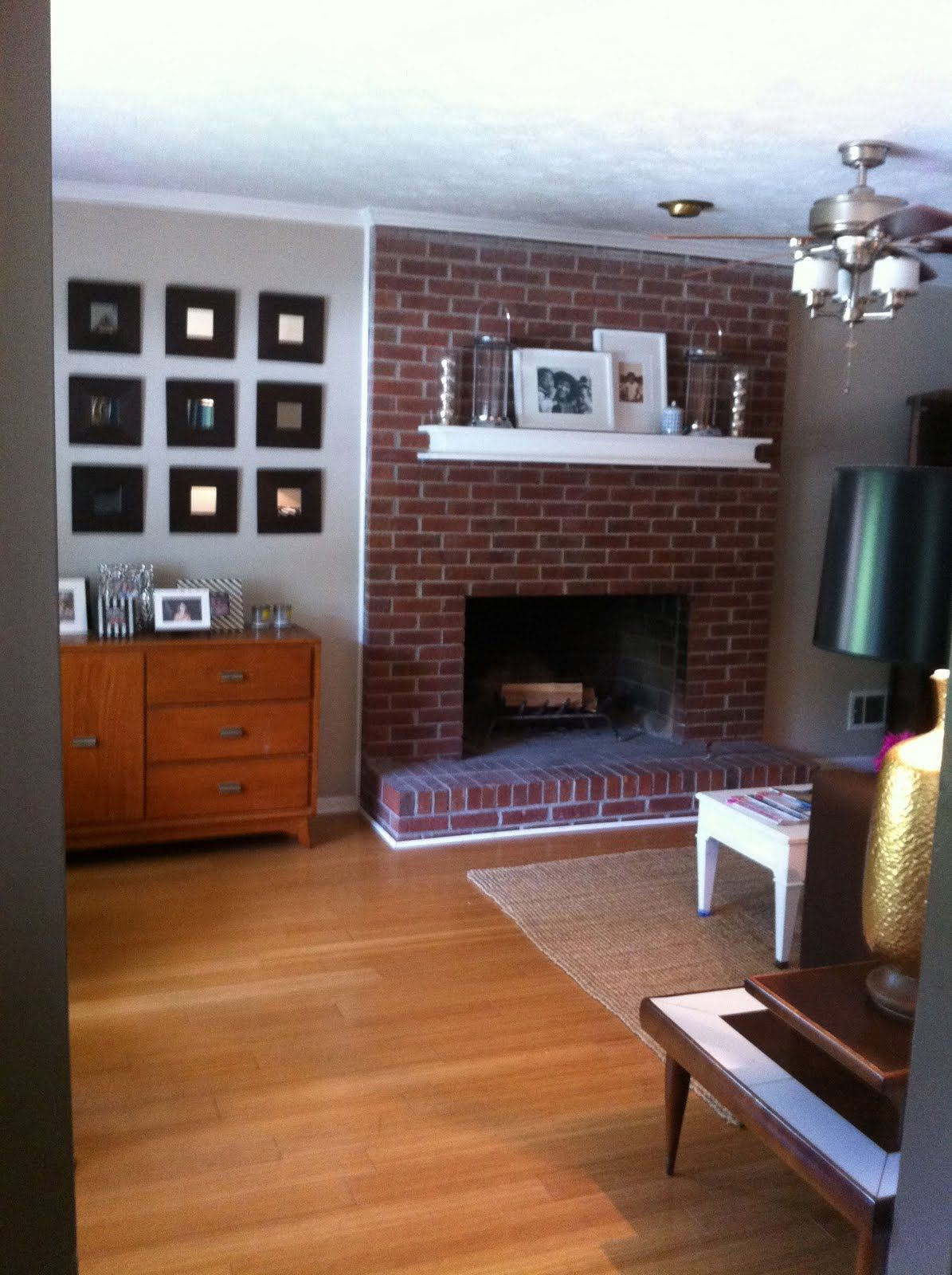 Drd Dayka Robinson Designs Painting A Brick Fireplace Living Room With Fireplace Red Brick Fireplaces Brick Fireplace