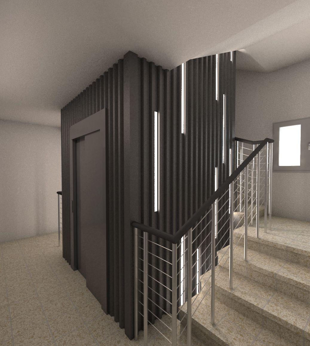 Ideas de #Edificios de #Recibidor, estilo #Moderno diseñado por Q:NØ ARQUITECTOS Arquitecto con #Dibujos #Maquetas  #CajonDeIdeas