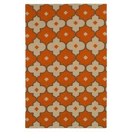 Add a pop of pattern to your master suite or den decor with this flatweave New Zealand wool rug, showcasing a quatrefoil trellis motif for a touch of cosmopolitan style.  Product: RugConstruction Material: New Zealand woolColor: RedFeatures:  FlatweaveQuatrefoil trellis motif Note: Please be aware that actual colors may vary from those shown on your screen. Accent rugs may also not show the entire pattern that the corresponding area rugs have.