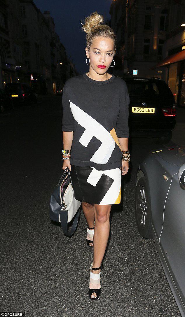 Rita Ora wears cheeky blah blah blah waistcoat in NYC