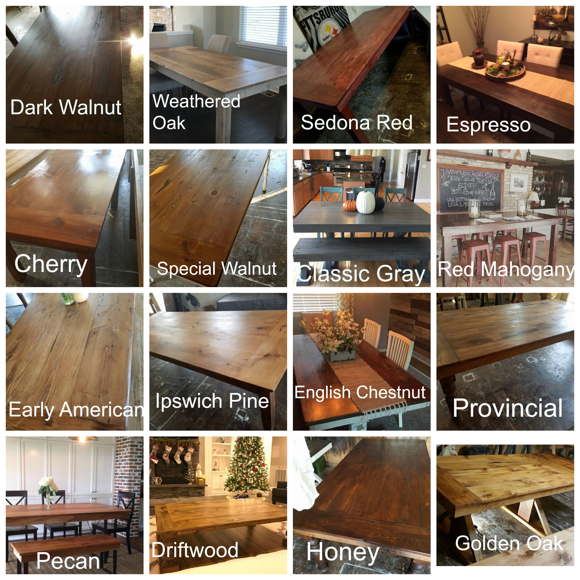 Rustic Industrial Dining Table Condo Furniture Farmhouse Table