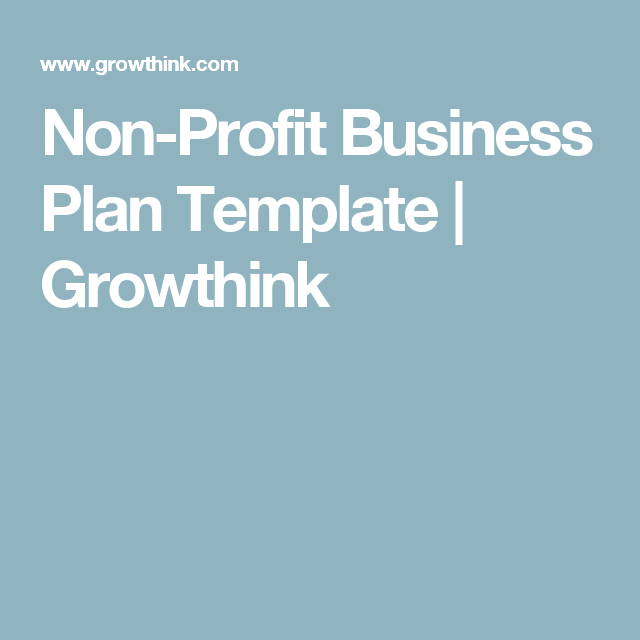 Non profit business plan template growthink nonprofit startup non profit business plan template growthink wajeb Gallery
