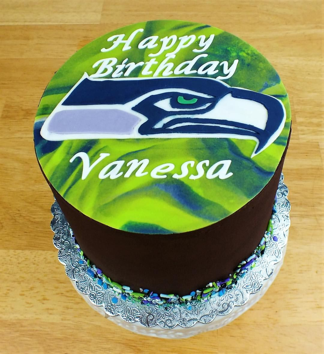 Surprising Seattle Seahawks Cake Seattle Seattleseahawks Cake Football Birthday Cards Printable Opercafe Filternl