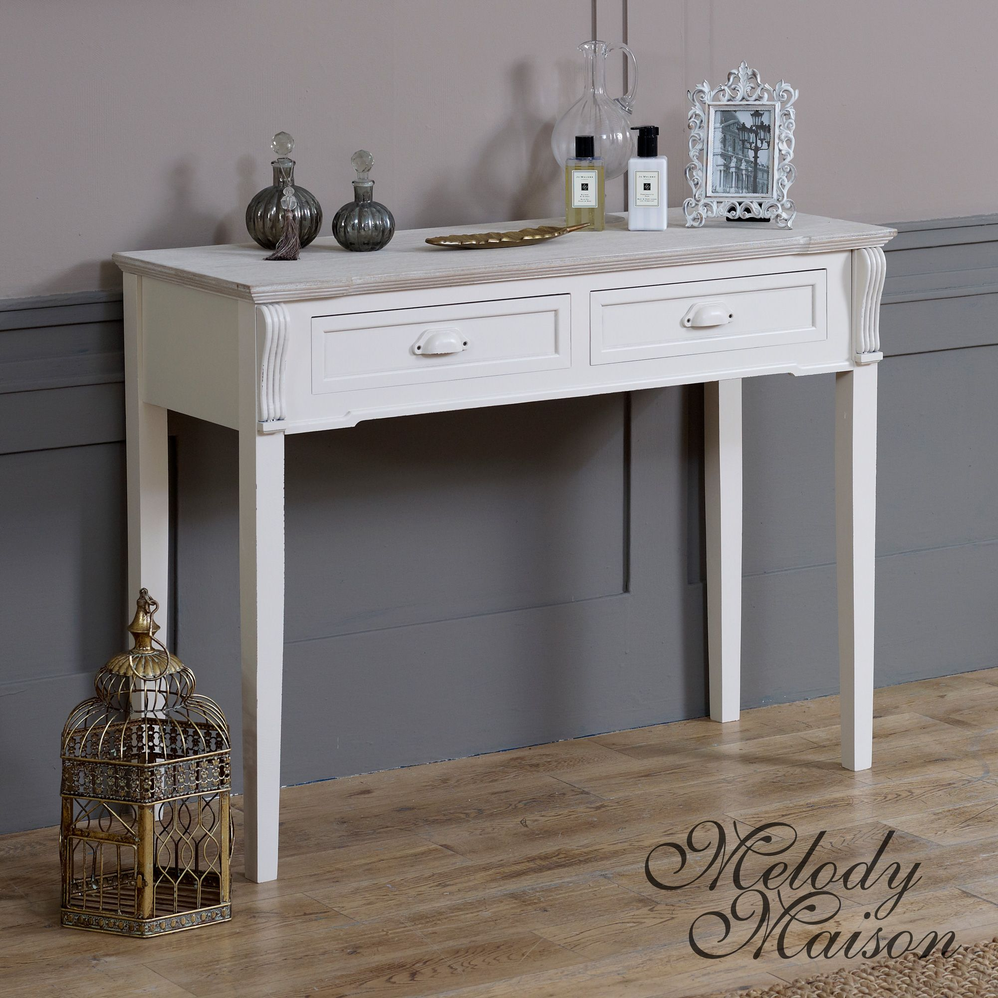 Cream 2 drawer consoledressing table lyon range lyon french cream 2 drawer consoledressing table lyon range french country styledressing geotapseo Gallery