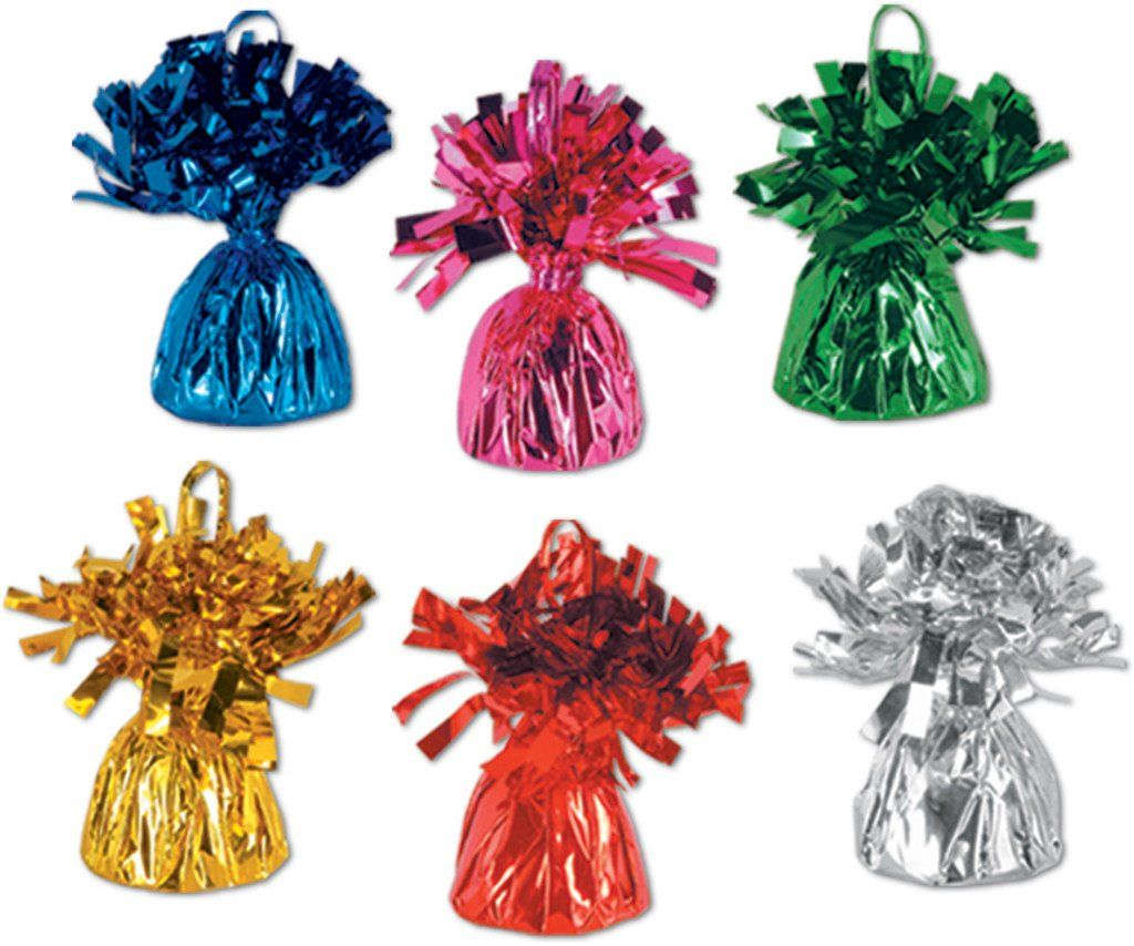 Metallic Wrapped Balloon Weights - 48 Units