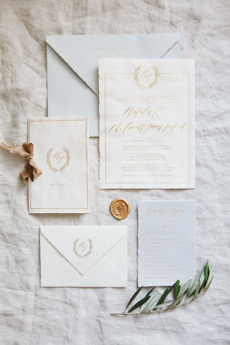 Handmade Paper Wedding Invitations | Written Word Calligraphy + ...