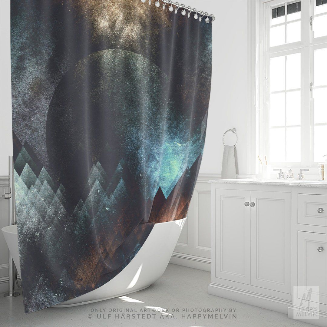 Statement Shower Curtains From Quiet Town Plus Glamorous Hooks Cool Shower Curtains Elegant Shower Curtains Colorful Shower Curtain