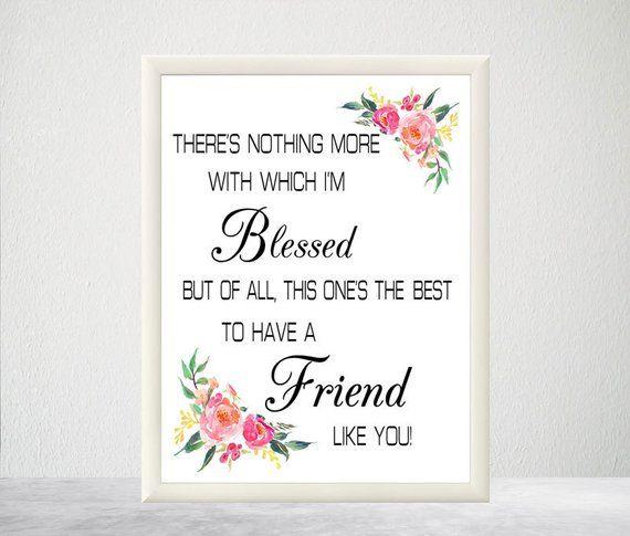 Printable Friendship Verse Friend Gift Friend Verse