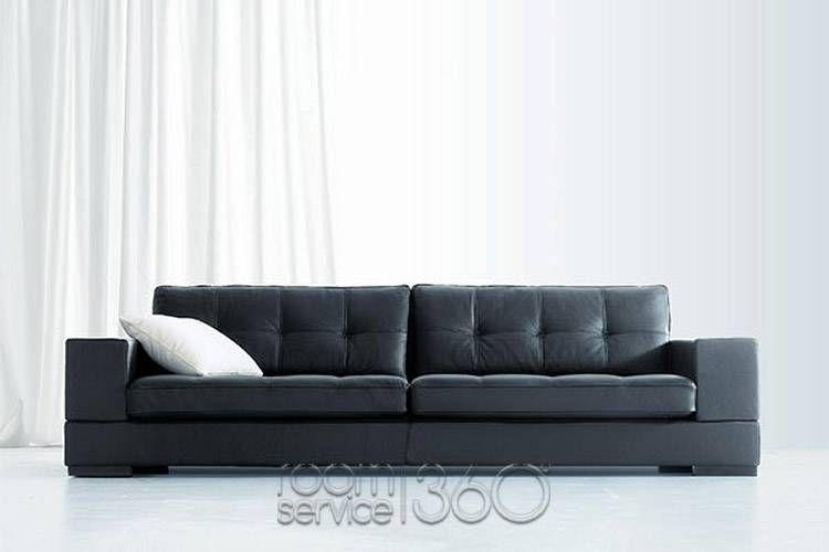 Olimpo Italian Modern Leather Sofa By Contempo