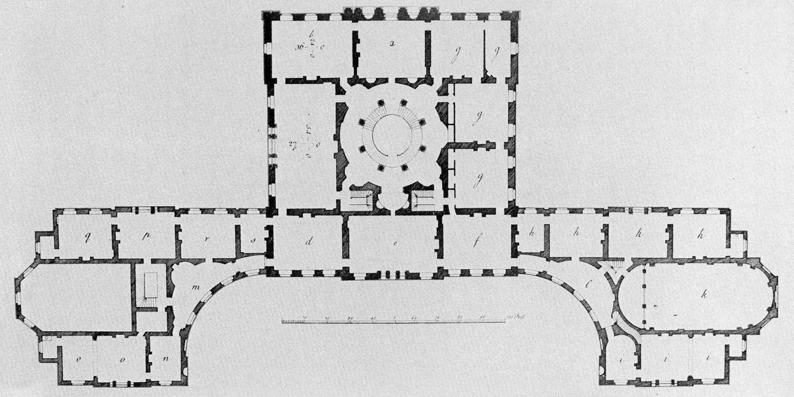 Wardour Castle Original Main Floor Plan Castle Floor Plan Architectural Floor Plans Vintage House Plans