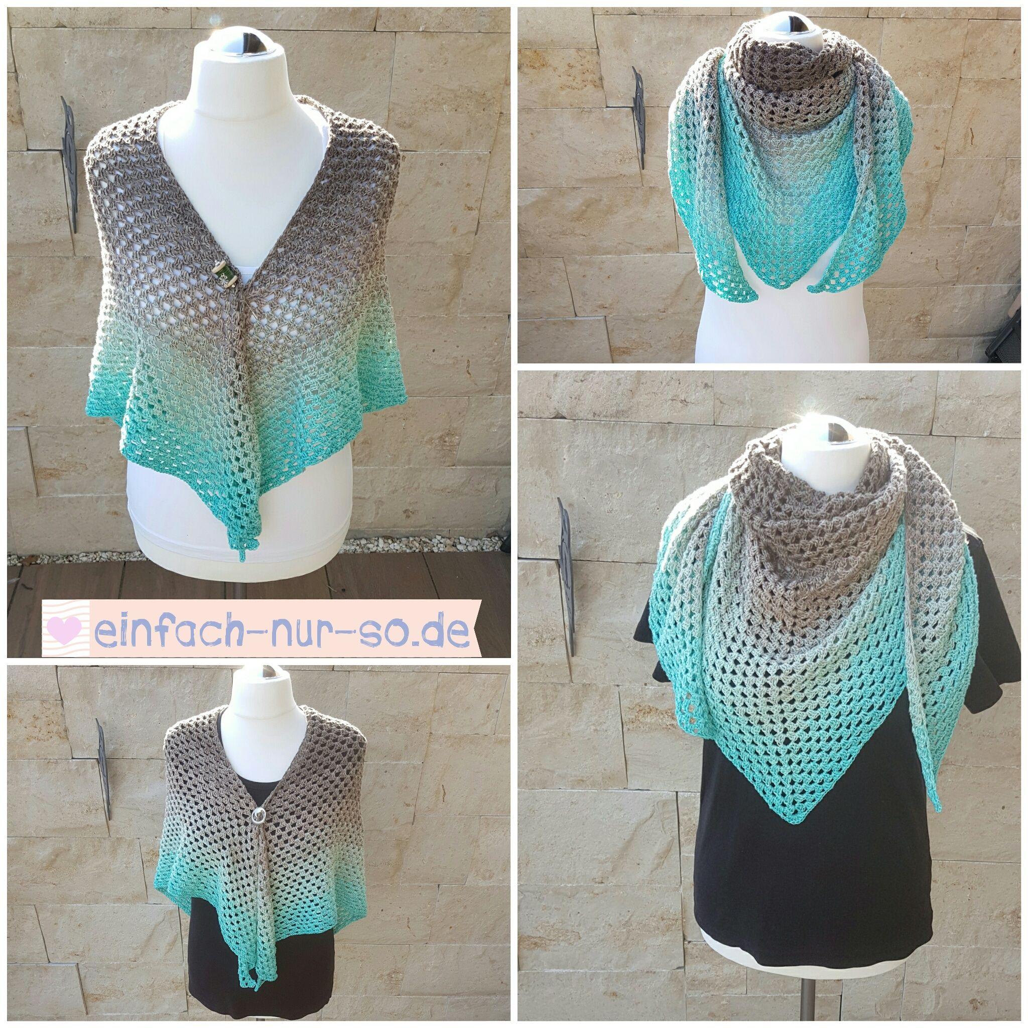 Half Granny Square Tuch Pfefferminze | Crochet | Pinterest | Granny ...