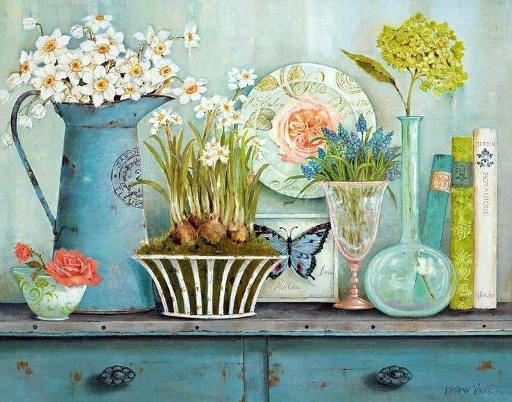 flores en la cocina | cajas vintage | Pinterest | Flores en, Flores ...