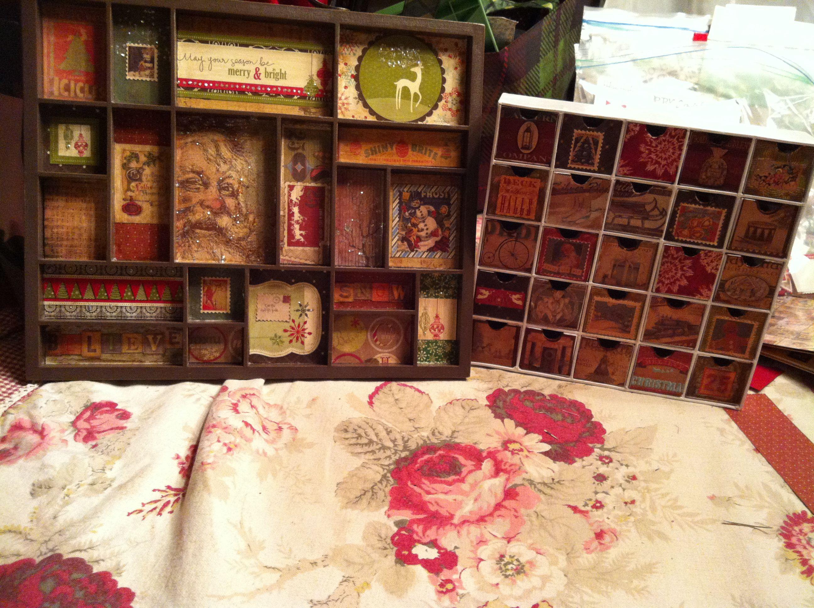 Print Tray and Advent Calendar Box