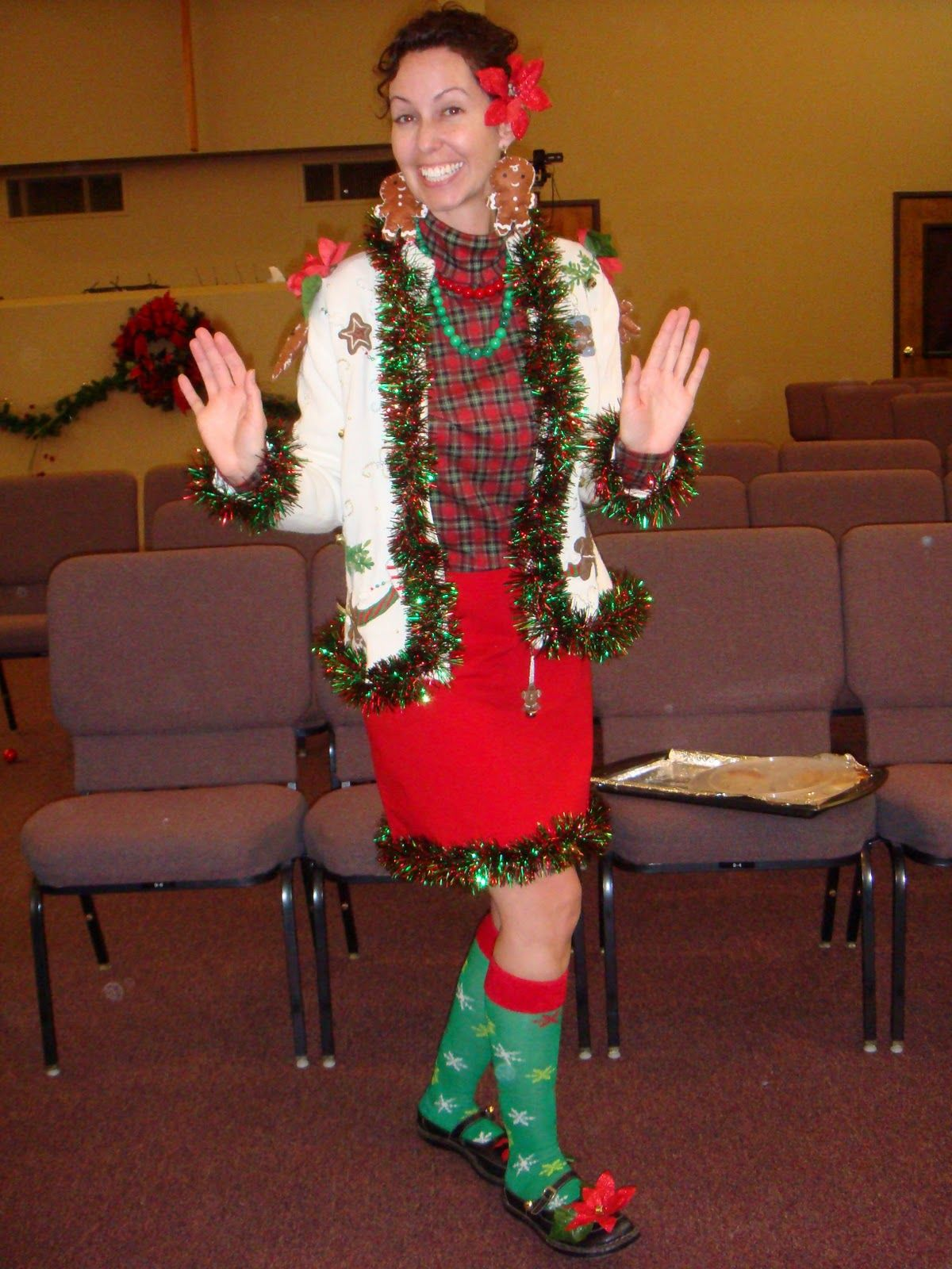 Funny Christmas Party Outfit Ideas Part - 15: Had A Blast Last Night With My Womenu0026 Group At Church Celebrating Christmas  Early. I Wanted To Share My MAD Skills For A Tacky Sweater ~ .