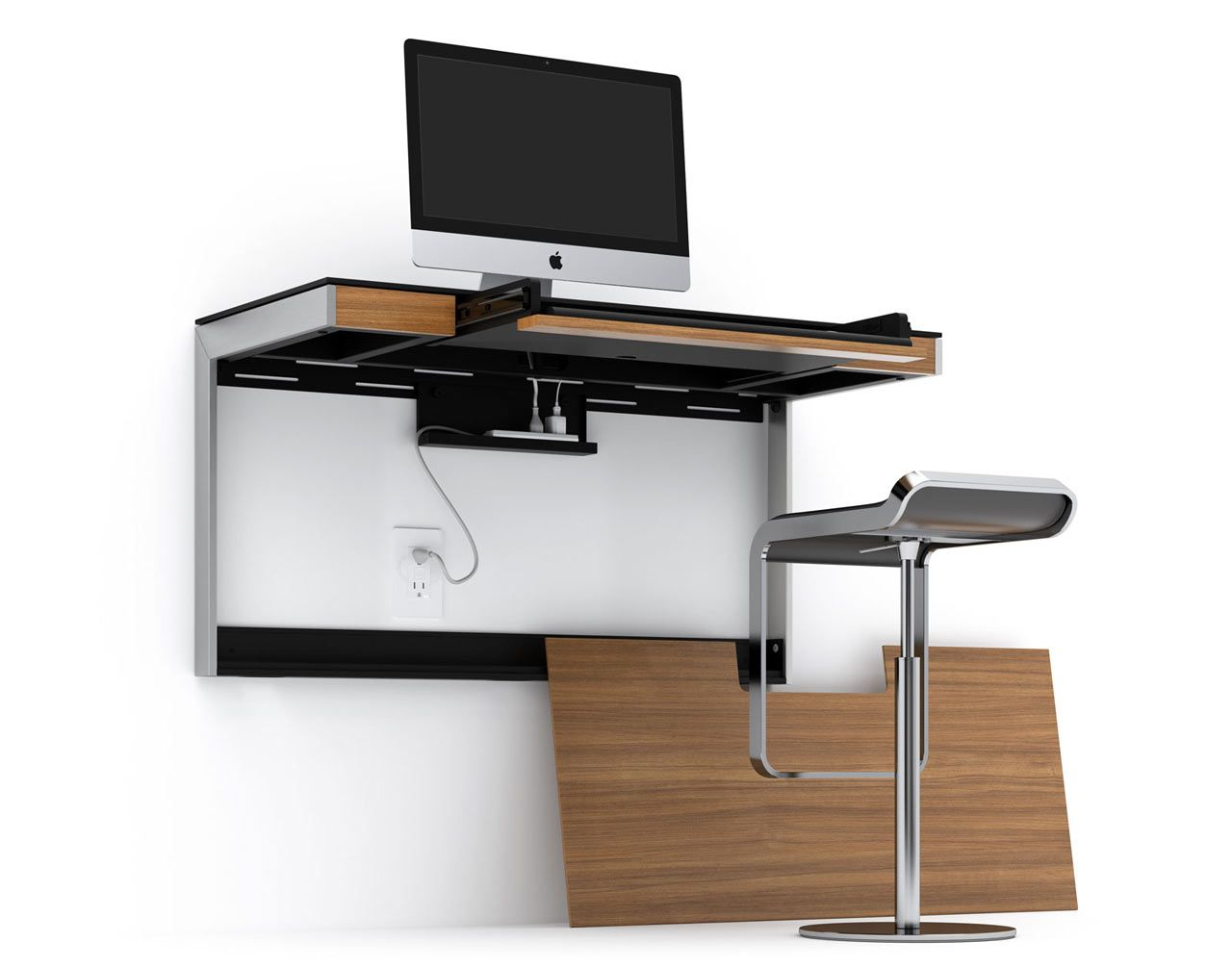 Sequel Wall Mounted Desk 6004 Matthew Weatherly 5 Design Milk Desks For Small Spaces Wall Mounted Desk Wall Desk