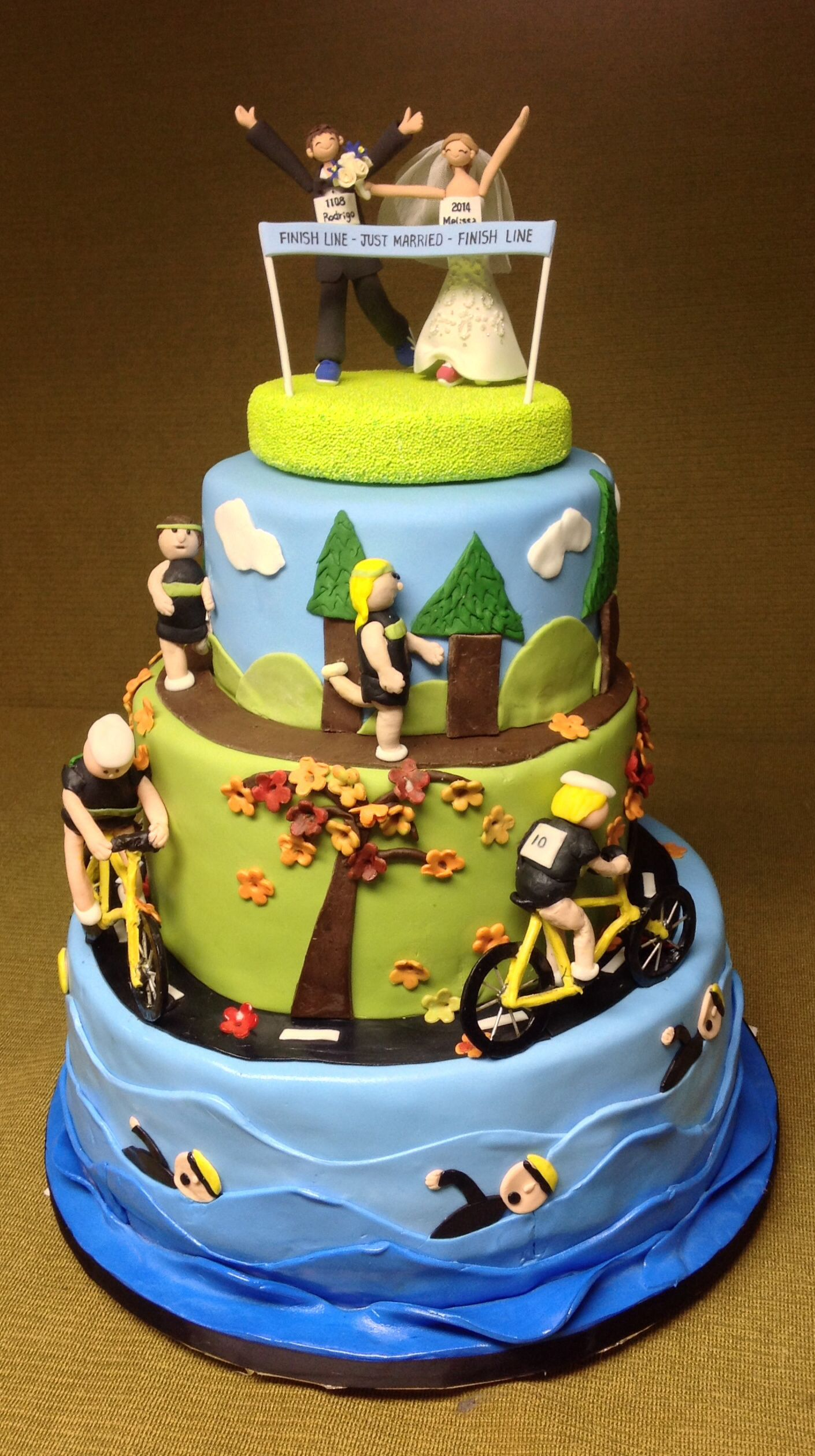 Triathlon Wedding Cake Golf Birthday Cakes Zombie