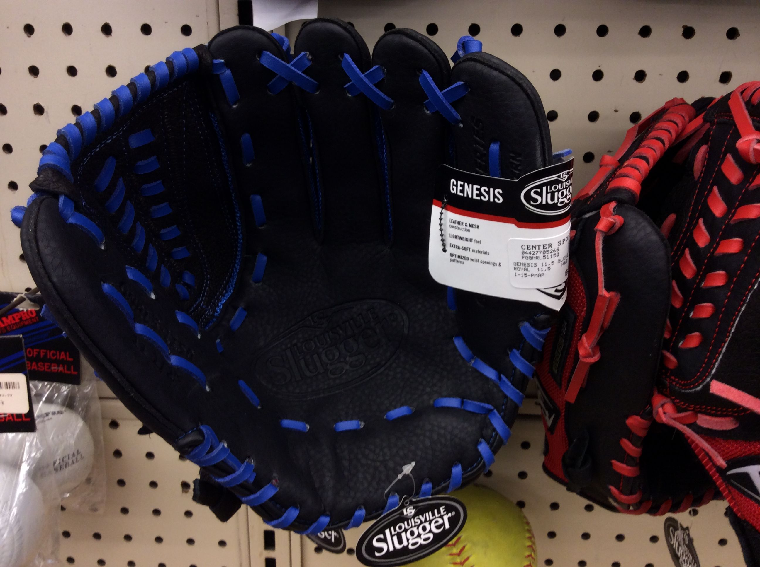 Louisville Slugger Genesis Baseball Glove Black And Blue Baseball Glove Louisville Slugger Vans High Top Sneaker Baseball Glove