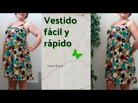 b572844a7 Vestido de escote cruzado y espalda descubierta - YouTube