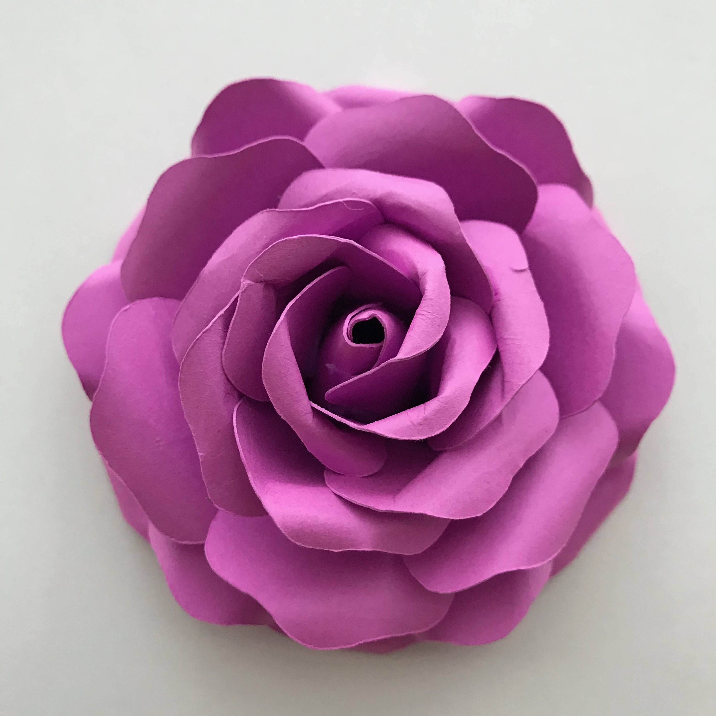 Pdf Tiny Rose 5 Paper Flower 6 Different Sizes Trace And Cut