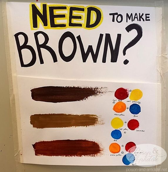 Image Result For How To Make Brown Paint