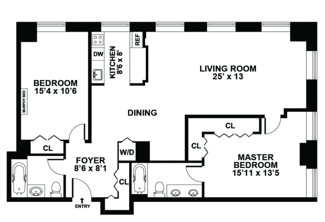 Garage Conversion To 2 Bedroom Home Apartment Floor Plans