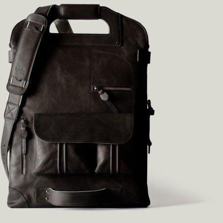 hard graft 2Unfold Nero Laptop Bag | style | Leather laptop