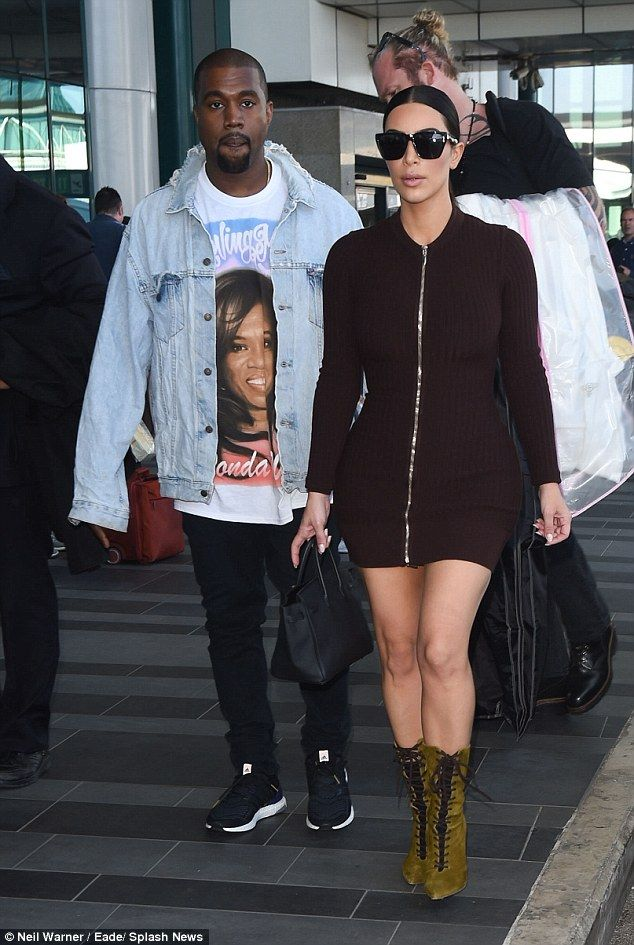 3e13f50e2 The Kim and Kanye tour  The loved-up married couple were pictured arriving  in Rome on Sunday afternoon following a weekend break in London