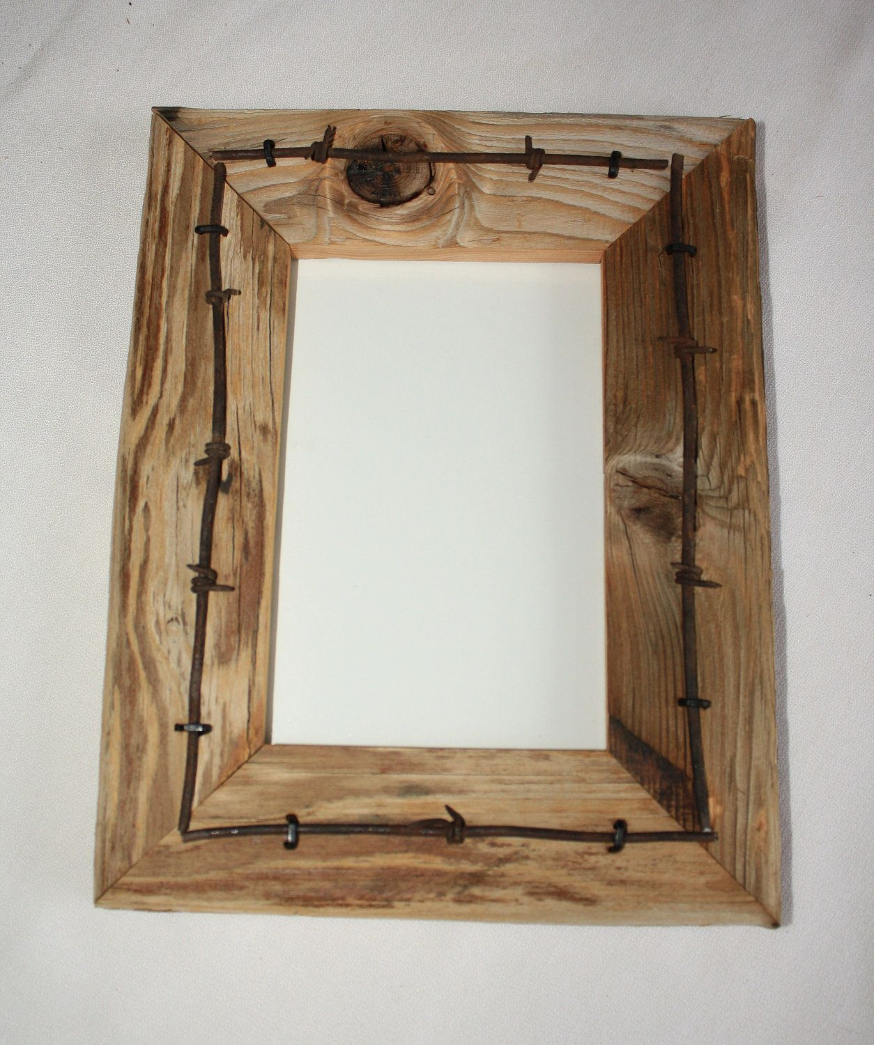 Reclaimed Wood Picture Frame - 4 x 6 - Vintage Telegraph Pole Cross ...