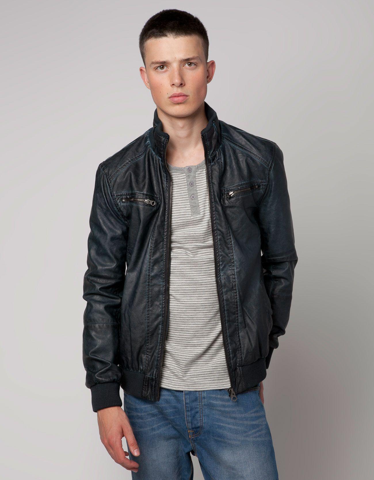 Bershka Hong Kong S. of China - Imitation leather biker jacket