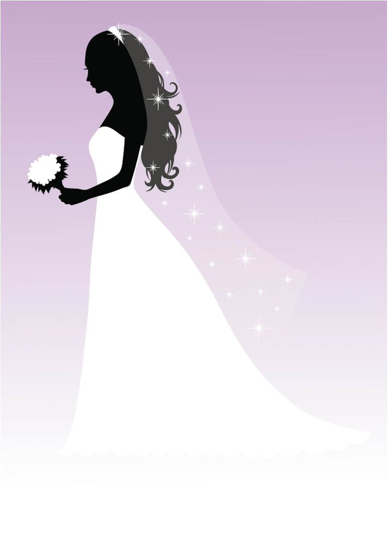Beautiful Bride Silhouette Bride Clipart Wedding Silhouette