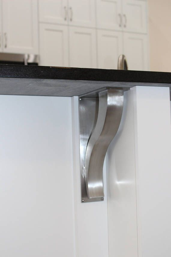 Stainless Steel Countertop Support Brackets Architectural Corbels Shelf Modern Kitchen