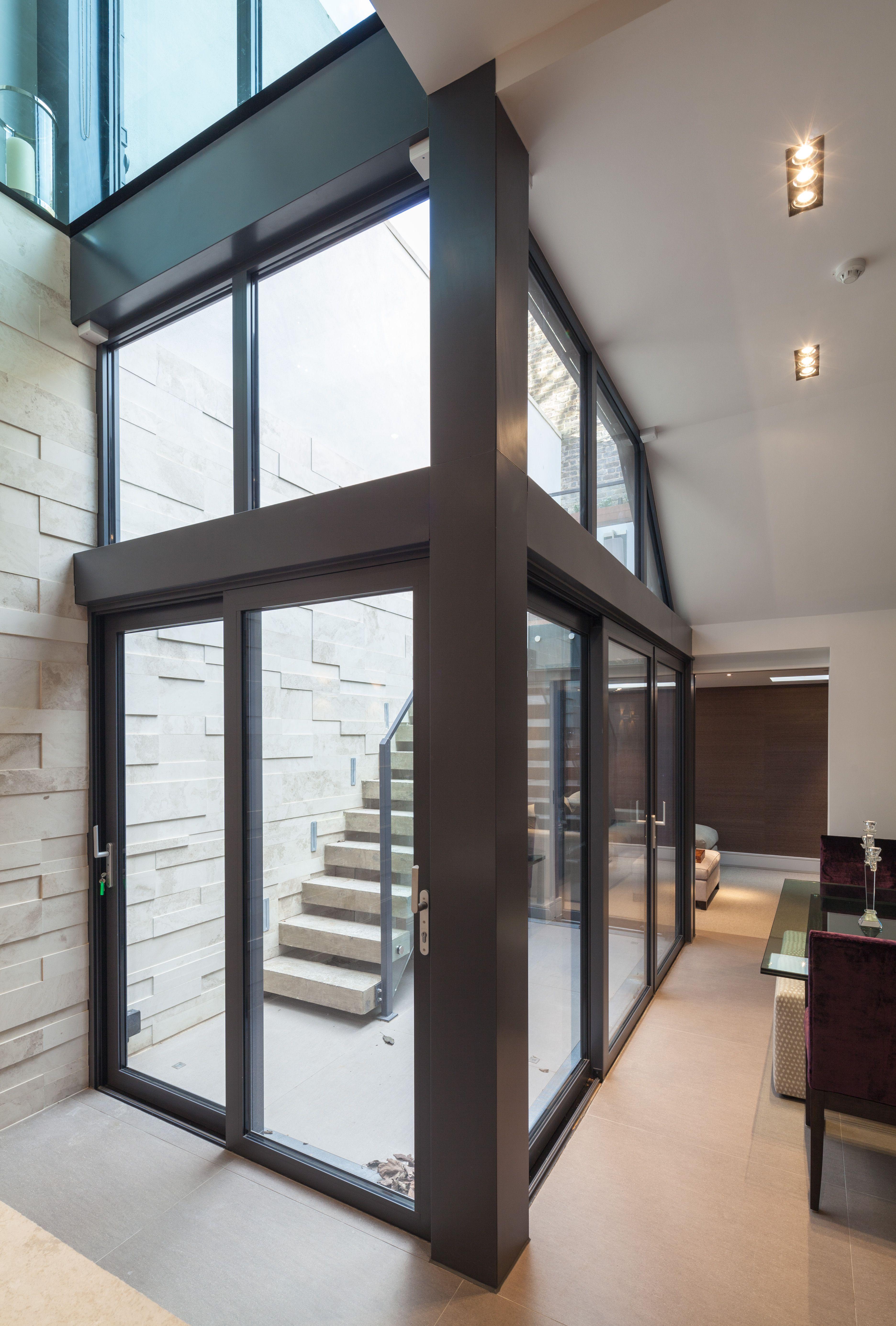 Interiors Lightwell Basement Smith Terrace Chelsea PEEK Architecture Design Peekarchitecture