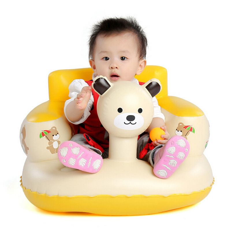 Baby Safety Sofa▷Comfortable Inflate Chair Sit Training Chair fo ...