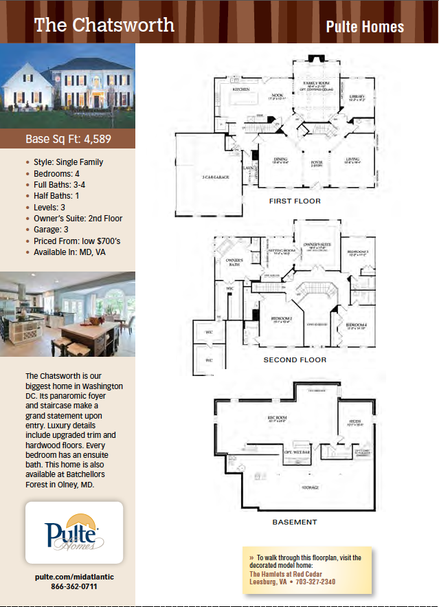 The Chatsworth, Pulte Homes, New Homes Guide  Wish it had a wrap porch