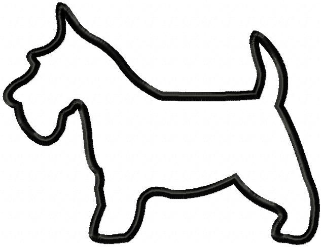Schnauzer Drawing Easy: This Simple Silhouette Applique Design Comes In Three