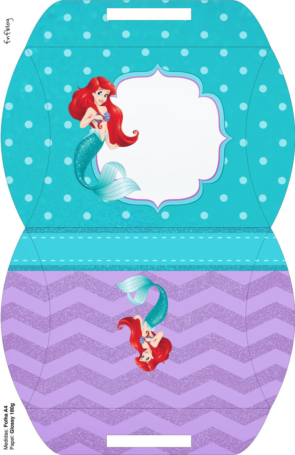 Bolsinha Para Lembrancinha Pequena Sereia Ariel Lembrancinha