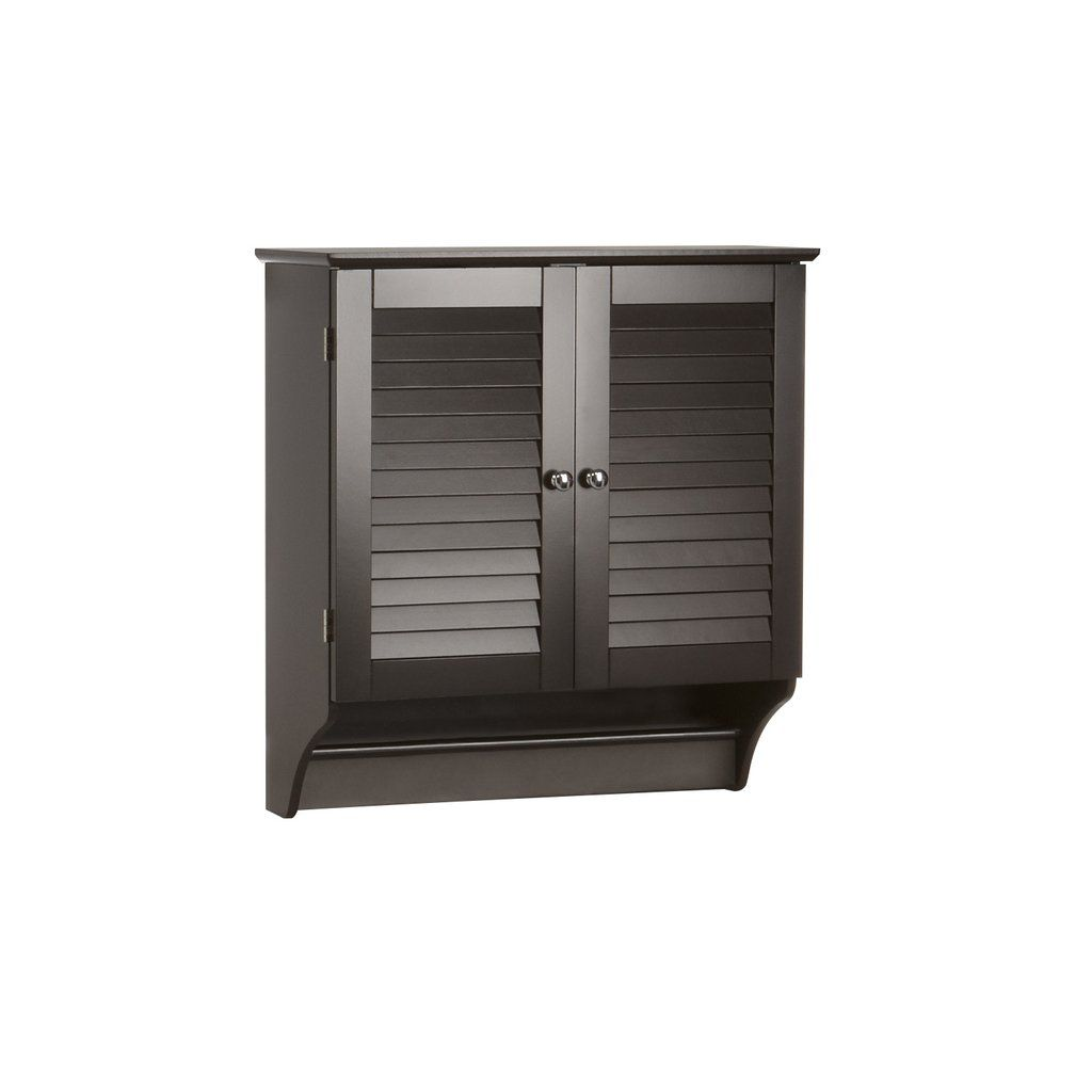 Riverridge Ellsworth Collection Espresso Two Door Wall Cabinet With Towel Bar