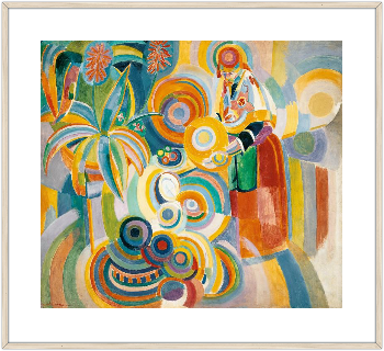 """""""Portuguese Woman"""" by Robert Delaunay. Print on Demand."""