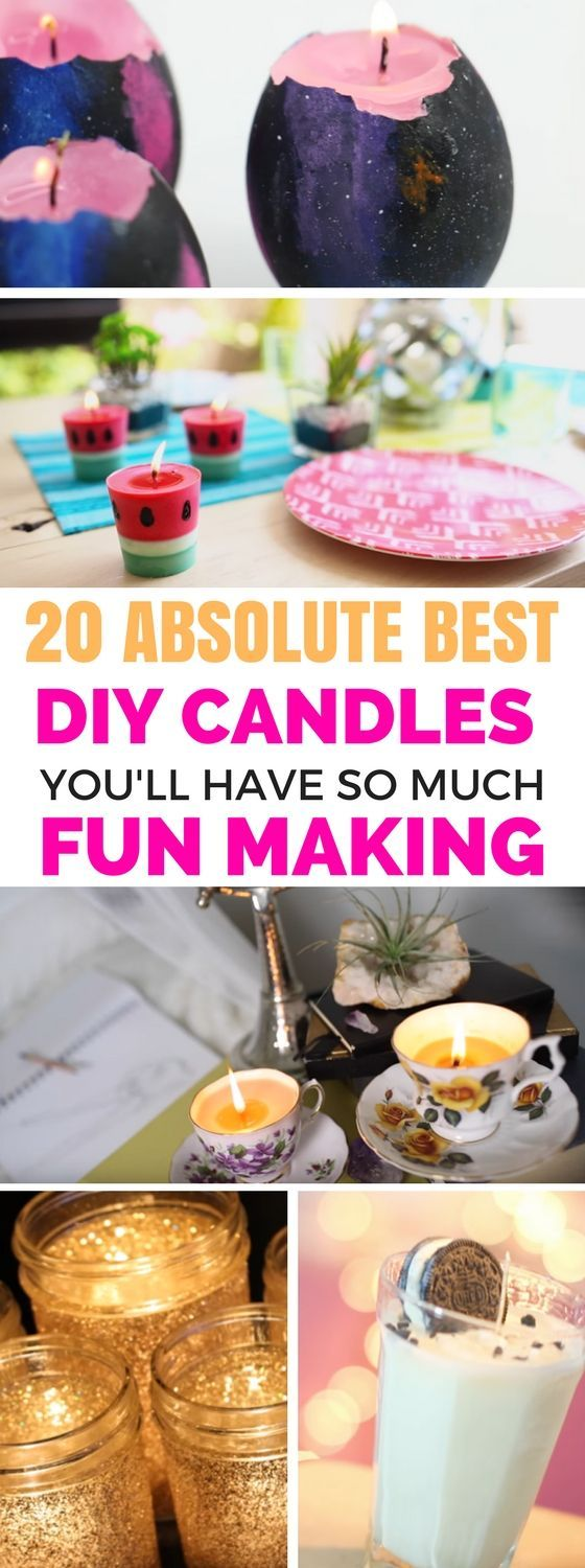 Easy DIY Candles To Make - A list of fantastic homemade candles that looks gorgeous and are so simple to follow along. Step by step tutorials on how to make different kinds of candles. Literally the BEST candles out there!