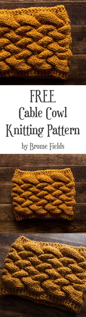FREE Cowl Knitting Pattern : Cable Knit Cowl : Basket Cable Knit ...